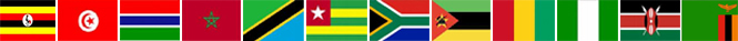 Homeschooling Africa - 12 country flags